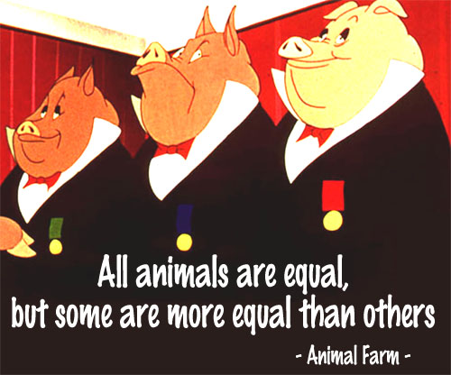 "animal farm the meaning of equality essay Animal farm essays  l""animal farm"" extended essay animal farm is an allegory of one of the most effective and important events of the modern world history ."