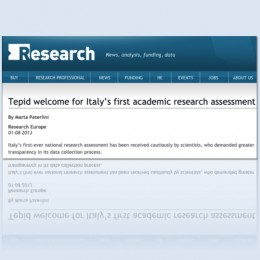 Tepid welcome for Italy's first academic research assessment