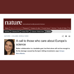 A call to those who care about Europe's science