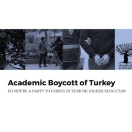 Targeted academic boycott of Turkish higher education system